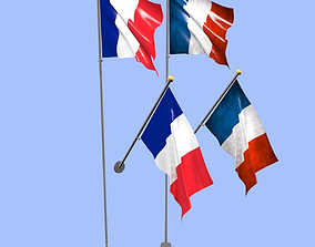 3D France Flag