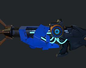 Freeze Ray 3D asset low-poly