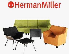 3D Herman Miller Swoop Lounge