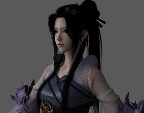 3D asset Chinese beauty Woman Female pretty girl lady 1