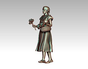 flower seller 3D printable model