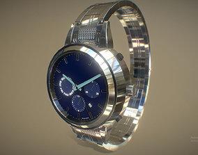 3D model Cool Silver Metallic Watch