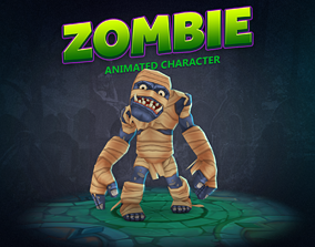 Zombie animated character 3D model