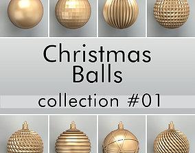3D model Christmas Balls collection 01