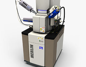 Electron Microscope 3D asset