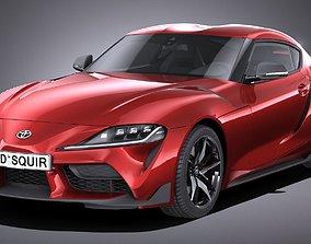 Toyota Supra 2020 LowPoly 3D model