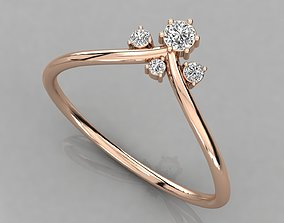 Women solitaire ring 3dm render detail jewelry rings
