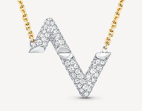 3D print model LV VOLT diamond pendant replica