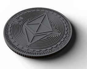 Ethereum - cryptocurrency in 3D