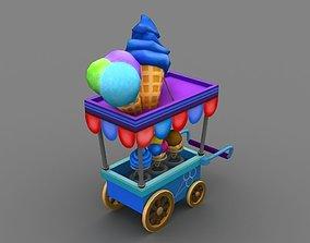 3D model icecream cart