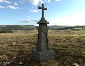 Medieval Grave Marker 3D asset