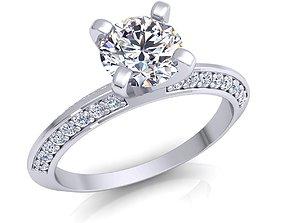 3D printable model Fancy Engagement Ring diamond-ring