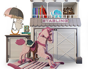 3D model Rocking horse cupboard stable