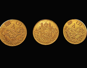 Gold Amani coin 3D model