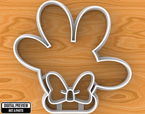 Minnie Mouse Hand with Bow Cookie 3D print model
