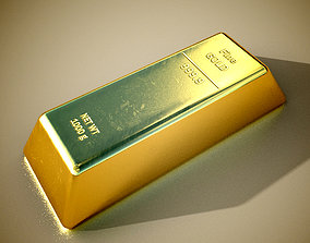 Gold Bar I PBR Model 3D model game-ready