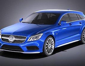 3D model Mercedes-Benz CLS Shooting Brake 2015 VRAY