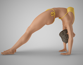 3D print model Healthy Woman Practicing Yoga
