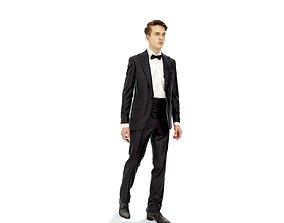 Elegant Man with Tuxedo Walking EMan0312-HD2-O06P01-S 3D