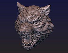 3D printable model print Wolf head