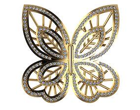 Butterfly jewelry element 3D print model