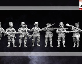 3D printable model 28mm WW1 Multipose Austria-Hungarian
