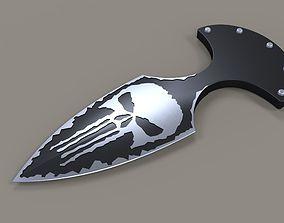 3D model Punisher push dagger