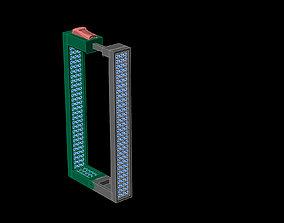 rectangular spring push earrings 3D printable model