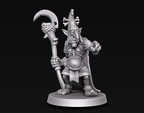 Goblin wizard 3D print model