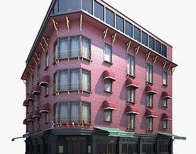 Corner Building Pub Restaurant Hotel 3D