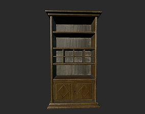 Wooden Bookcase 3D asset low-poly