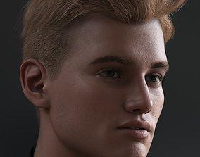 3D model Tjark Short Hair for Genesis 8 and 8-1 Males