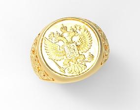 emblem of Russia ring 3D printable model