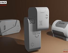 25 Sci-Fi Decals Pack Vol 001 3D model