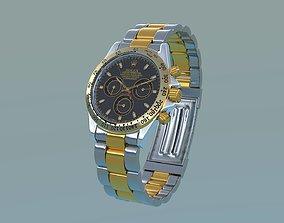 Rolex Cosmograph Daytona Oyster steel gold 3D