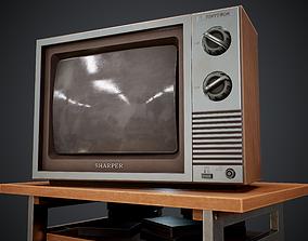 3D asset realtime Old TV