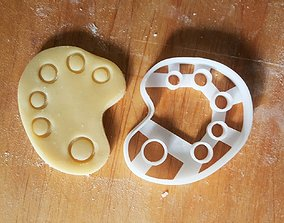 3D printable model Painting palette cookie cutter