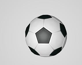 Soccer Ball Low Poly 3D asset