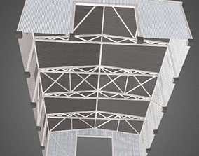 3D model Industrial Hangar for summer