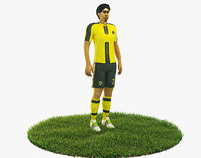 3D model Shinji Kagawa football Player game ready