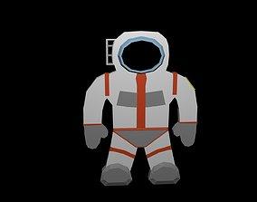 3D model Low poly Cosmonaut symbol