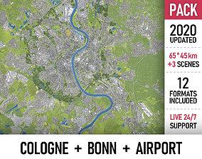 3D model Cologne - Bonn - CGN Airport - megapack