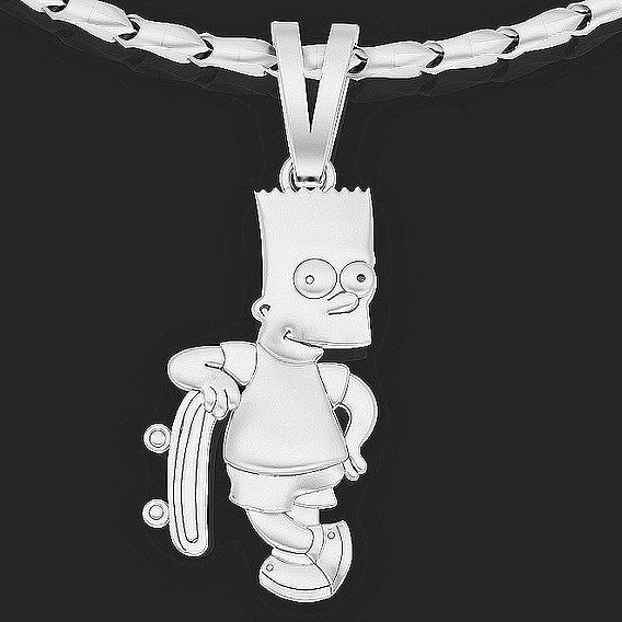 Simpsons Barts pendant