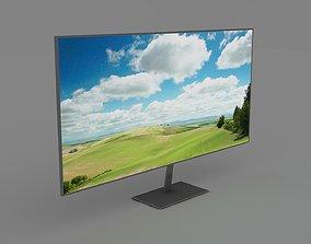 3D asset Minimalistic Big Modern Widescreen TV