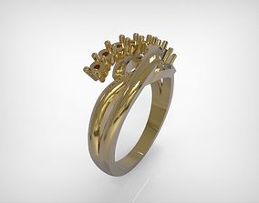 3D printable model Jewelry Braided Design Golden Ring
