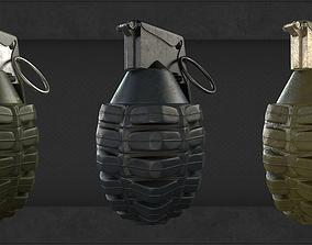 Frag grenade 3D asset VR / AR ready