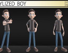 Stylized boy 3D model VR / AR ready