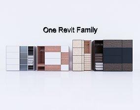 Cupboard 1 - Full parametric Revit Family 3D asset