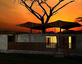3D asset Exterior Sunrise