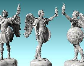 3D print model Arch-angel Gabriel - CNC Rounting - Wood 3